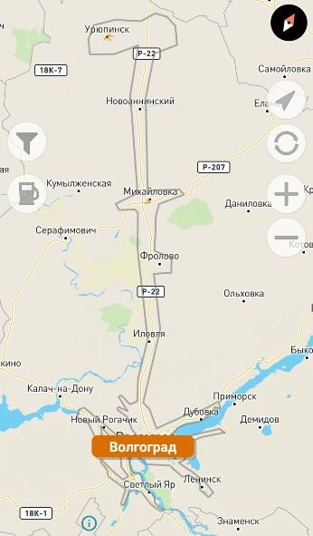 Зона передвижения Bi-Bi.car в Волгограде
