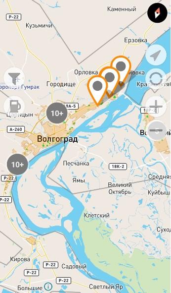 Зона завершения аренды Bi-Bi.car в Волгограде
