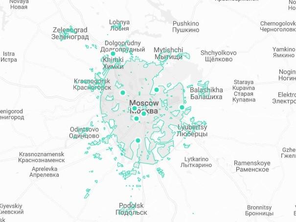 Зона завершения аренды в Москве